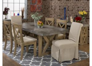 Boulder Ridge Concrete Dining Table- Rectangle and 4 chairs