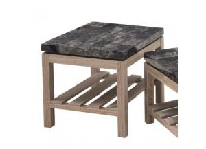 Onyx Faux Marble & Driftwood End Table