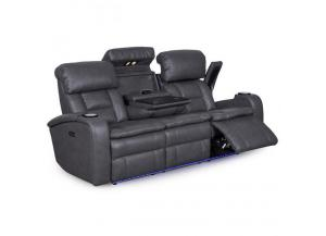 Larue Prospect Graphite Reclining Sofa With Power Headrest,Lifestyle Distribution