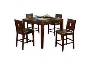 Lakeport Espresso Pub Table and 4 stools