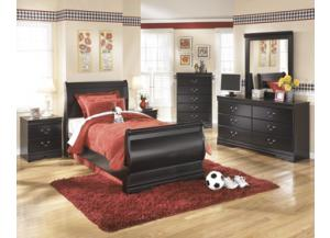 Abella two drawer nightstand