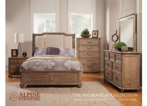 Melbourne California King Bed, Dresser, Mirror, Nightstand