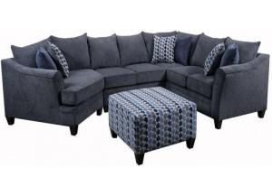 Albany Slate / Bubbles Ink / Jada Navy Sectional
