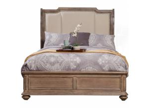 Melbourne King Upholstered Sleigh Bed