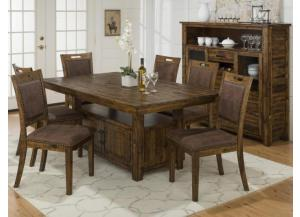 Cannon Valley High/Low Table With Storage Base and 4 chairs