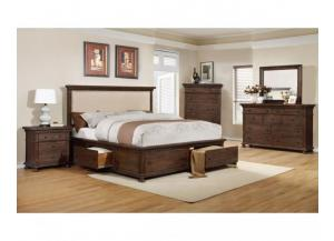 Frank Java Rustic Queen Storage Bed