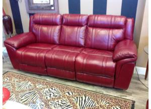 Chiara Burgundy Power Reclining Sofa