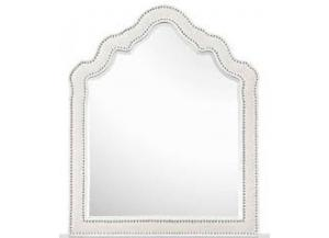 Gabrielle Snow White Shaped Upholstered Mirror