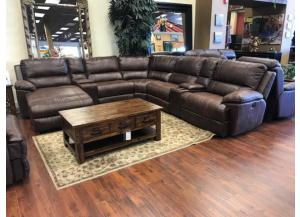 San Francisco 5-Piece Sectional With Left Facing Incliner Chaise