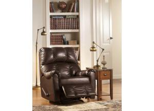 Rutledge Mahogany Rocker Recliner,Living Room Center Showcase