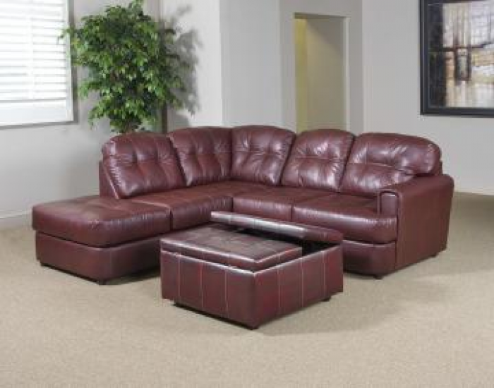 Left Facing Muscadine Chaise Sectional,Serta Upholstery