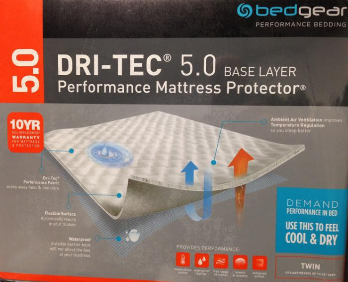 Twin Dri-Tech 5.0 Performance Mattress Protector,Bedgear