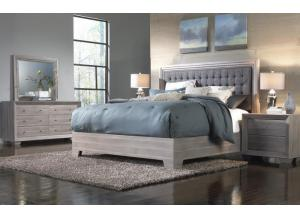 Arketipo Queen Bed, Dresser, Mirror and Nightstand