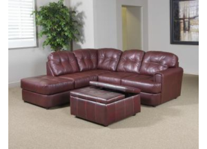 Left Facing Muscadine Chaise Sectional