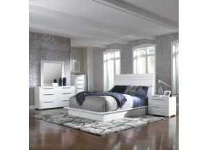 Delta 5-PC White Bedroom Set