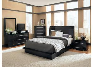 Delta 4-PC Black Bedroom Set
