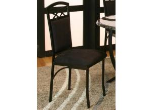 ELECTRA Textured Black/Black Microsuede Side Chair (Set of 4)