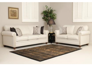 Keynote Ivory Loveseat