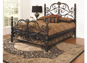 Belta Queen Metal Bed,Largo Furniture