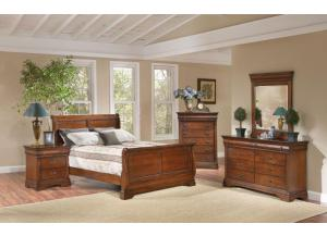 Bordeaux King Bed, Dresser Mirror, Chest, Nightstand