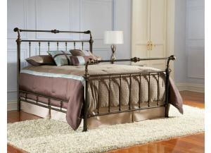 Larent Queen Metal Bed,Largo Furniture