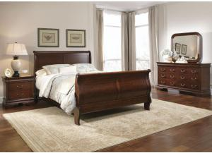Carriage Court Queen Size Sleigh Headboard, Footboard and Rails ,Liberty  Furniture