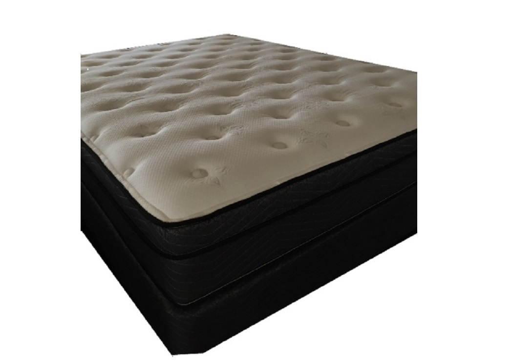 Clearwater Euro Top Full Mattress w/ Foundation,Therapedic