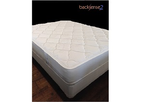 Backsense Two Sided Lancaster Plush Queen Mattress w/ Foundation