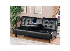 Sofa Bed with Tray-Black