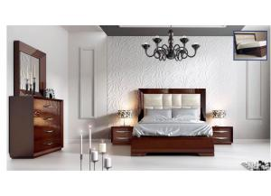 Carmen Walnut Queen Bedroon Set (6Pcs),ESF Wholesale Furniture