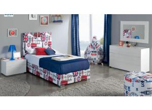 London-Twin Bed,ESF Wholesale Furniture
