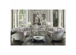 Versailles Ivory Velvet-Livingroom Set (7pcs),ACME Furniture