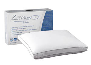 Zephyr Opulence White Gel Memory Foam Pillow