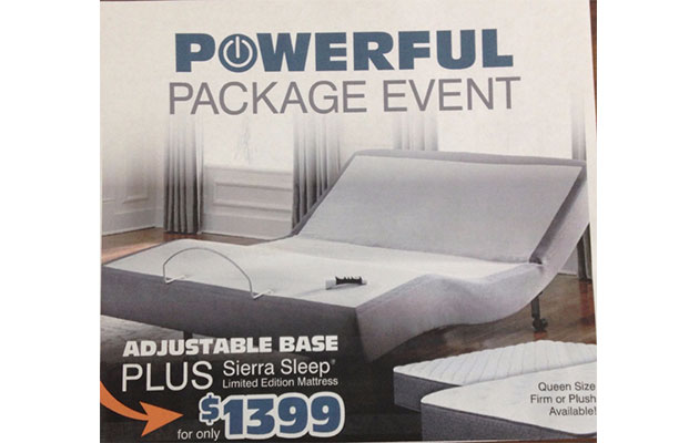 Adjustable Bed $1399