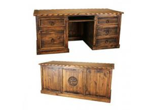 L.M.T Rustic Medio Finish Desk W/Rope and Star