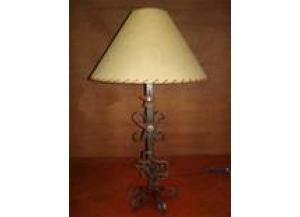 Million Dollor Rustic Metal Lamp W/Texas Logo