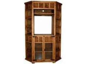 Million Dollar Rustic Small Corner TX Bookcase