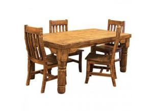 L.M.T. Rough Pine Table and Chairs