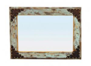 Million Dollar Rustic Blue Scraped Mirror