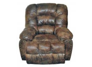 Million Dollar Rustic Pinto Tobacco Recliner