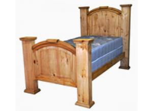 Million Dollar Rustic Twin Mansion Bed