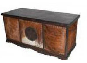 Million Dollar Rustic Dark Cowhide Executive Desk W/Star