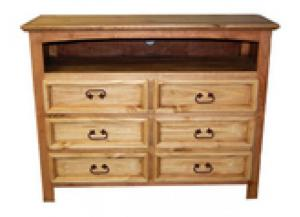 Million Dollar Rustic 6 Drawer Dresser TV Stand