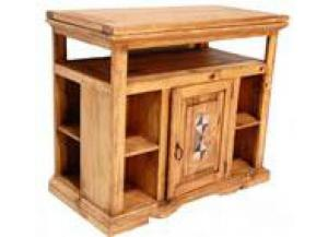 Million Dollar Rustic DVD Swivel Top W/Marble