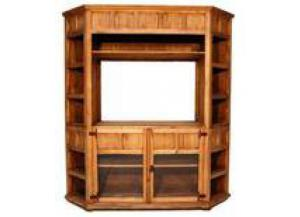 Million Dollar Rustic Large Corner TV Bookcase