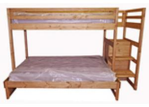 Milliom Dollar Rustic Twin Over Full Bunk Bed W/Stair Storage