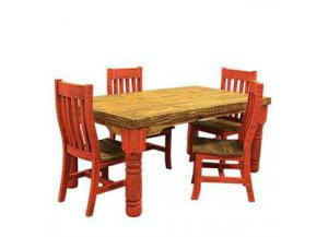 L.M.T. Red Table and Chairs