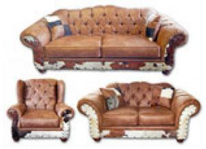 Million Dollar Rustic Chestnut Cowhide Group