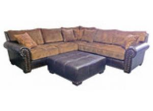 Million Dollar Rustic  661Sectional W/ Pillows