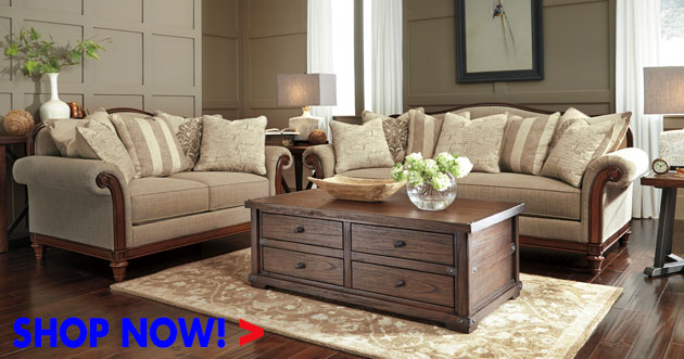 Berwyn View Quartz Sofa and Loveseat
